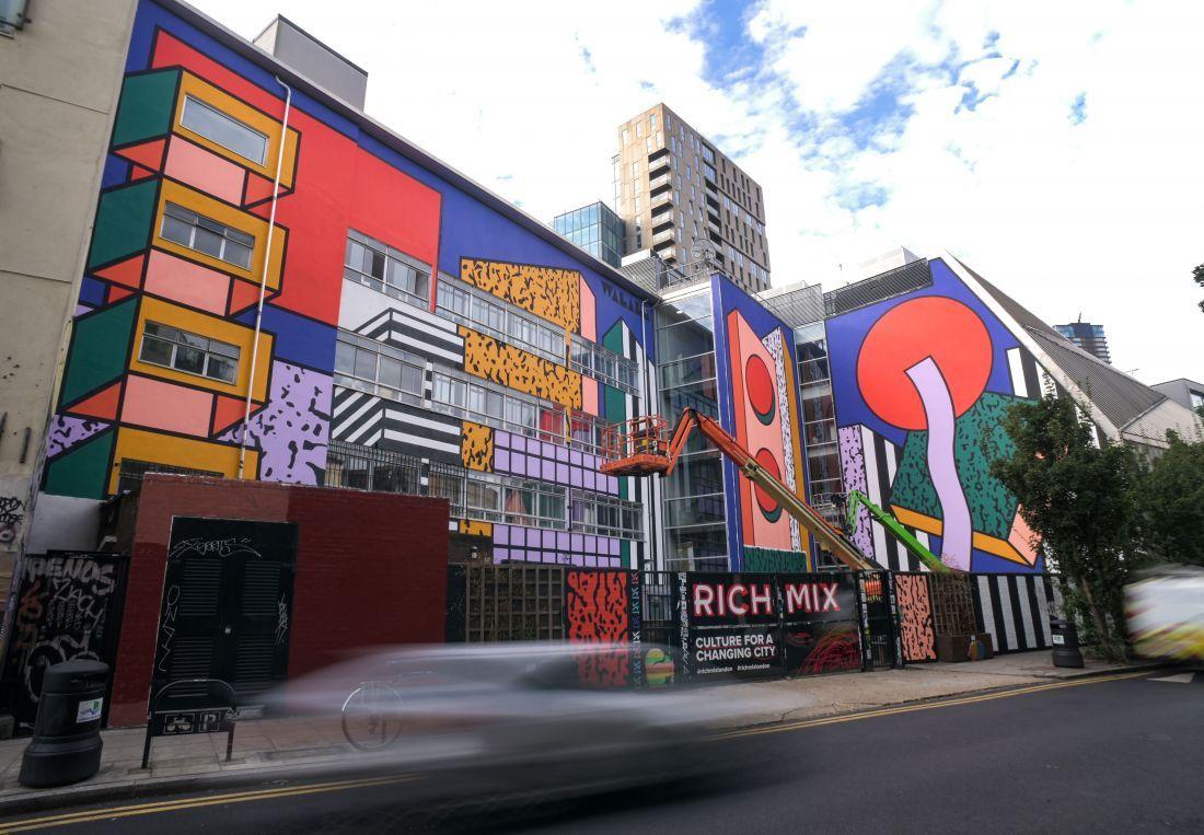 Camille Walala (WIP) - London Mural Festival - Rich Mix, Redchurch Street