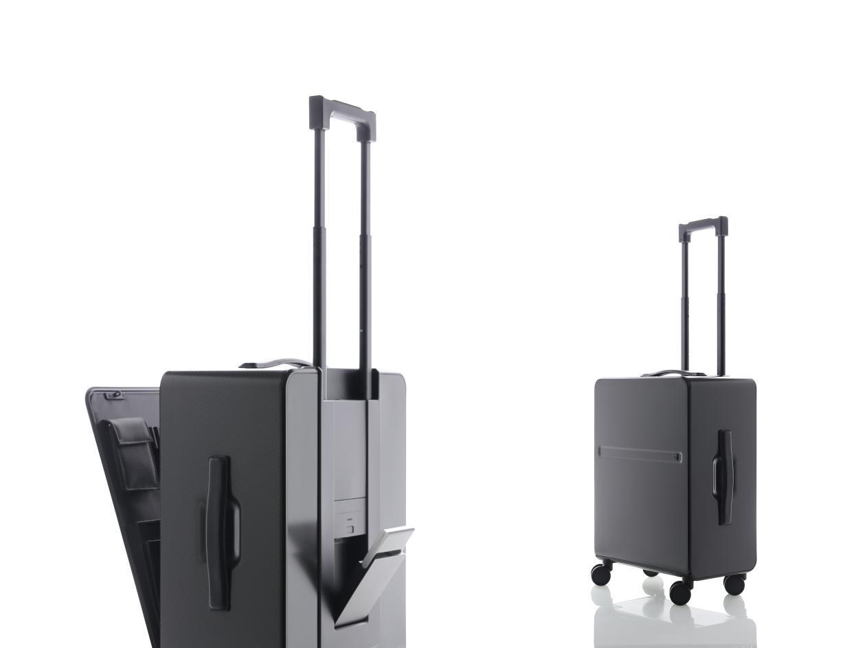 杨明洁设计作品_01:羊舍碳纤维智能旅行箱,2015年,获德国 iF、日本 Good Design 设计奖 (1)